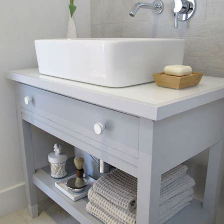 Modern Bathroom Mirrors South Africa by Home Dzine Bathrooms Re Purpose An Desk Into A