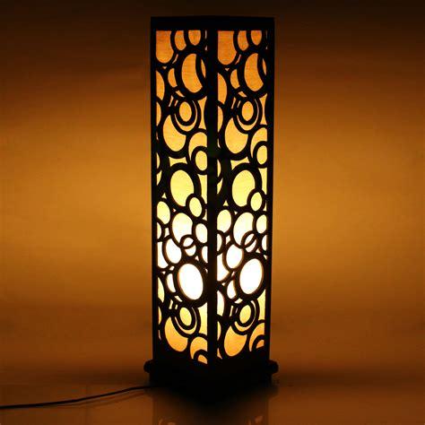 wooden carved floor lamp   indoor lighting home