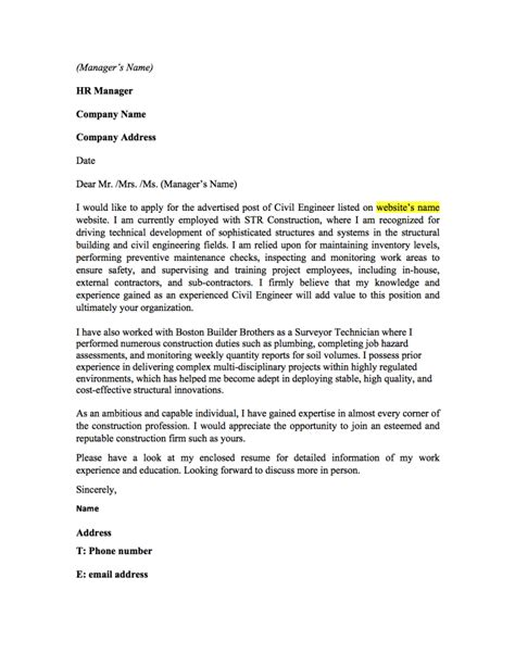 Cover Letter For Civil Engineer Resume by Entry Level Electrical Engineer Cover Letter Exle