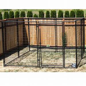 lucky dogtm modular kennel welded wire kit 639h x 1039w x With prefabricated dog kennels