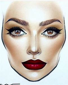 Milk1422 Face Charts Blank By Milk1422 Facechart Pinterest Face Charts Face