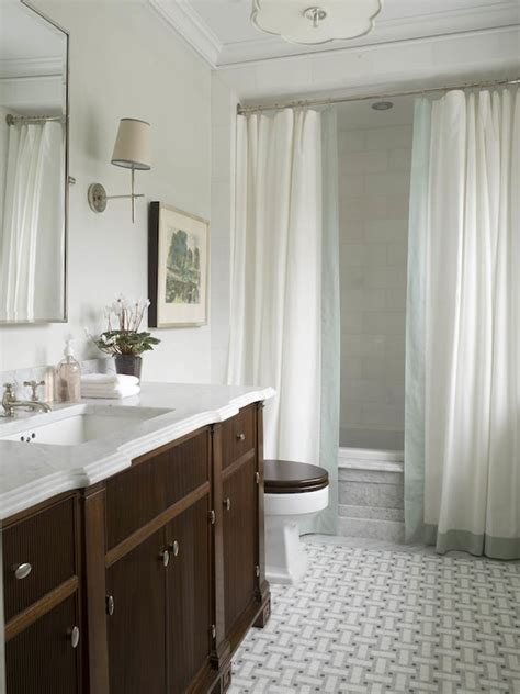 double shower curtains transitional bathroom phoebe