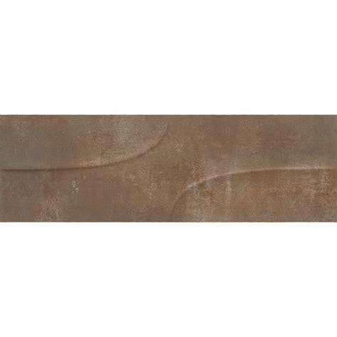 carrelage mural effet beton viento decor carrelage mural 21x63 russet effet b 233 ton us 233