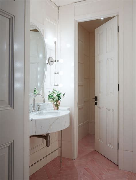 amazing pink tiled bathrooms apartment number