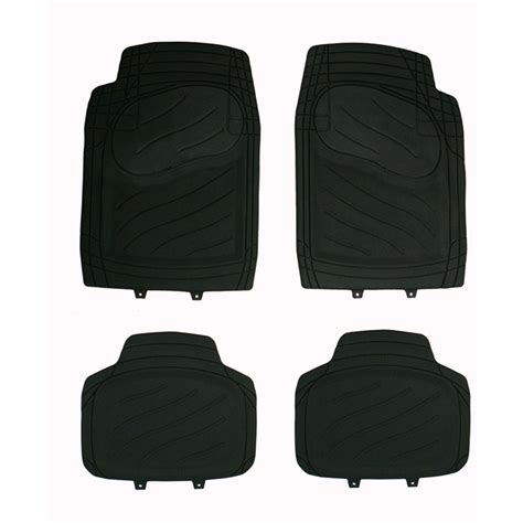 tapis de sol norauto 4 tapis de voiture universels en pvc norauto noir norauto fr