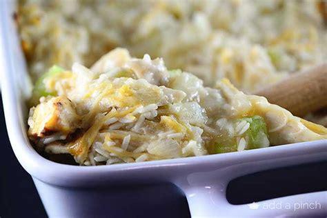 chicken  rice casserole recipe add  pinch