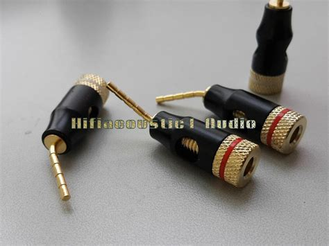 pcs speaker cable connector banana plug tp pin adapter