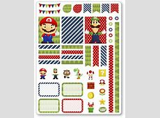 Mario Decorating Kit Weekly Spread Planner Stickers for Erin