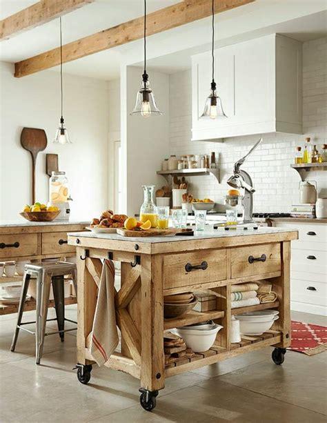 ilot cuisine sur roulettes le îlot à roulettes qui va pimenter le design de votre cuisine