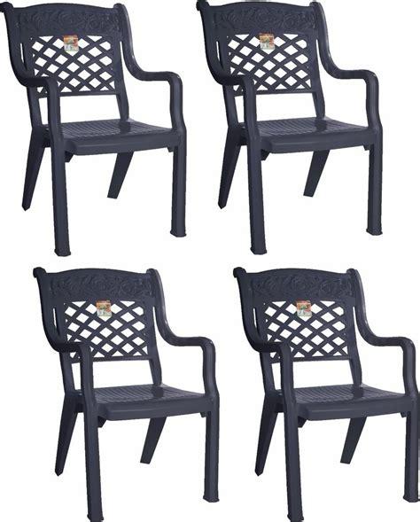 4 x large design garden chair graphite high raised