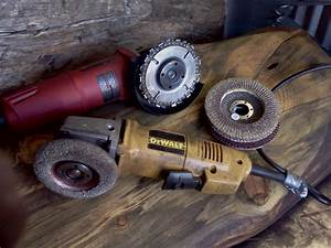 How-to Use an Angle Grinder on Wood LogFurnitureHowTo com