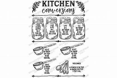Svg Kitchen Chart Conversion Cutting Conversions Printable