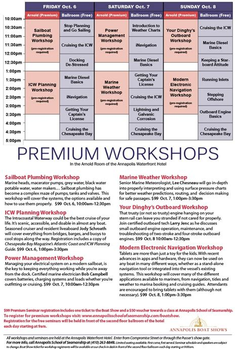 Annapolis Boat Show Seminars by Daily Free Seminars On Sailing Annapolis Boat Shows