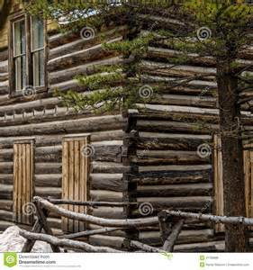 cabin building plans free historic log cabin in colorado stock photo image 41768888