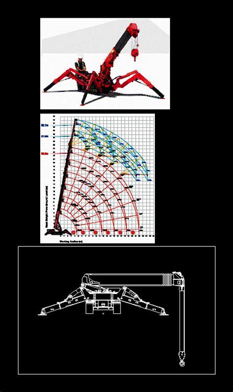 spider crane  autocad cad   kb bibliocad