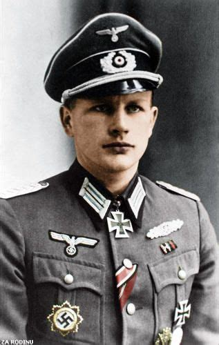 highly decorated german officer in the wehrmacht he was one of 98 soldiers to been awarded