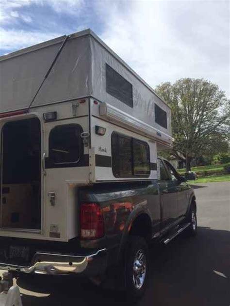 wheel campers hawk pop  truck camper  oregon