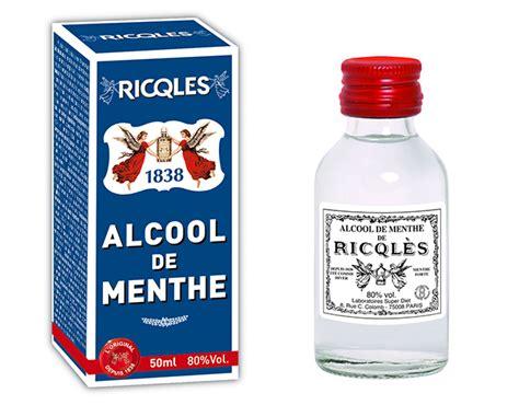 l alcool de menthe ricql 232 s