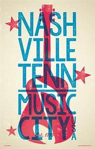 Nashville Poster - Music City U.S.A. by RedRobotCreative ...