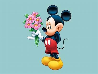 Mickey Mouse Desktop Flowers Bouquet Desired Wallpapers