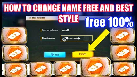 Tap one rename card and enter your new name. how to get name change card in free fire   Free fire name ...