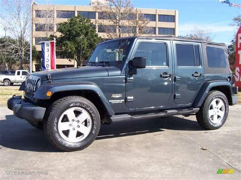 jeep gray color 2007 steel blue metallic jeep wrangler unlimited sahara