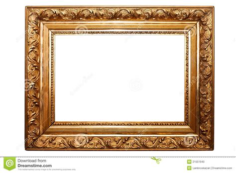 No Frames Picture 3 Piece Modern Cheap Home Decor Wall: Old Painting Frame, Isolated On White (No#2) Stock Photo