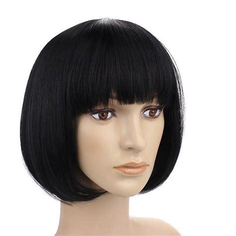 human hair short bob wig  bangs hairturners