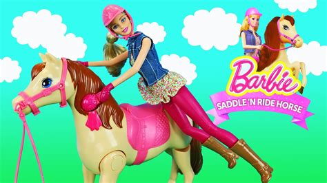 Barbie Saddle 'n Ride Horse Jump And Ride Pony Barbie Doll