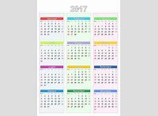 Calendario 2017 2019 2018 Calendar Printable with
