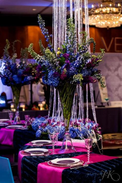 cloud 9 our tall vibrant blue and purple tall wedding