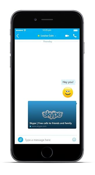 skype app for iphone skype for iphone updated with web links in previews for