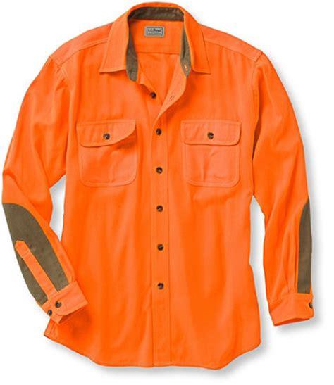 mens classic upland shirt hunter orange