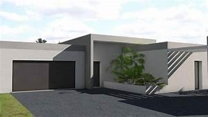 maison contemporaine en c a toit terrasse vegetalise With maison toit plat en l 17 le pool house de piscine