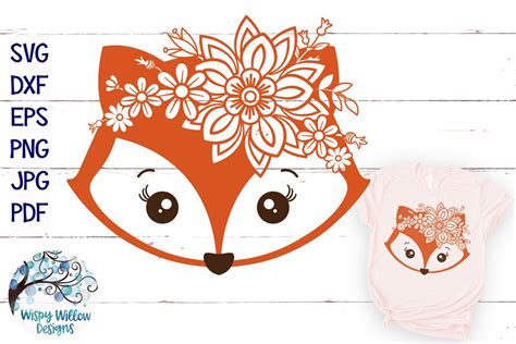 Some fox svg may be available for free. Floral Fox SVG | Girl Fox Face SVG Cut File (311666 ...