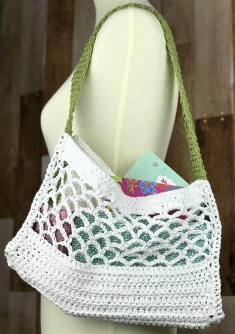 reusable shopping bag pattern allfreecrochetcom