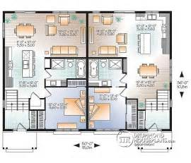 Genius Home Plans Duplex by Multi Family Plan W3049 V1 Detail From Drummondhouseplans