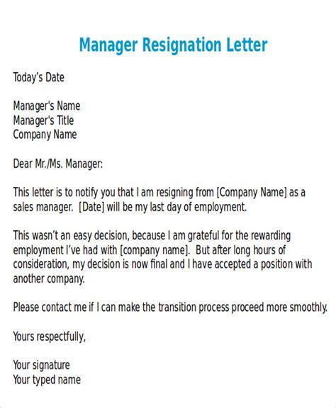 letter of resignation sles 38 resignation letter format