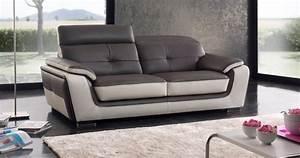 gondole tetieres reglables vachette premium With canapé cuir bicolore
