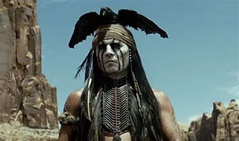 packed trailer of the lone ranger shows johnny depp on his quest for justice
