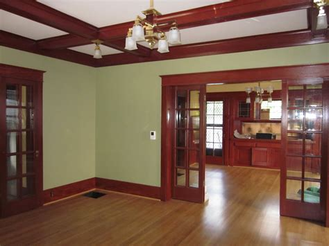 craftsman style house plans  basement  garage door