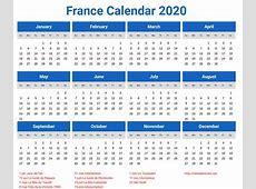 France Calendar 2020 printcalendarxyz
