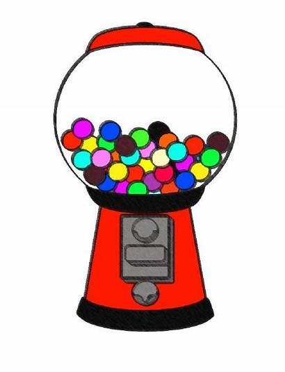 Gum Gumball Bubble Machine Clipart Clip Bubblegum