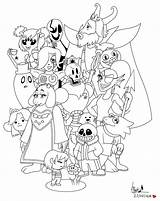 Undertale Coloring Flowey Canvas Waffle Credit Larger sketch template
