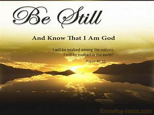 Psalm 46:10 Be Still And Know That I Am God (brown)