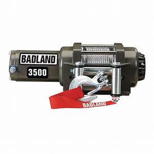 3500 Lbs  Atv  Utility Electric Winch With Automatic Load