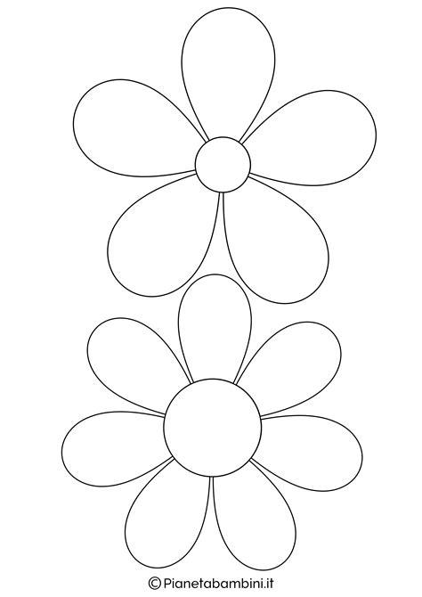 disegni di fiori 81 sagome di fiori da colorare e ritagliare per bambini
