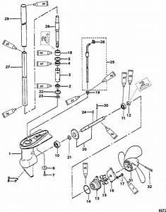 Gear Housing Assembly  2  2 5 Horsepower For Mariner    Mercury 2  2 5  3 3 Hp 2