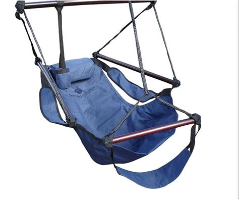 hanging navy blue hammock air swing chair