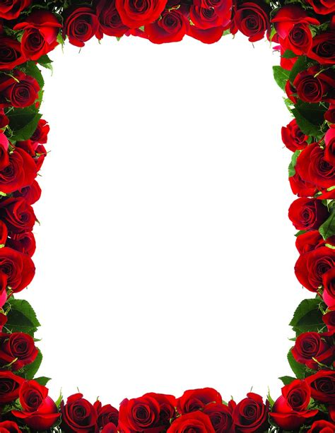 border of roses red rose border clip art cliparts